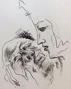 Ink-Crusader-War-Catholic-st-Louis-Attributed-to-Bernard-Masters-1883-1957