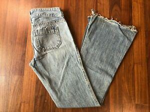 Vintage Abercrombie Fitch Ee Uu Hecho Flare Envejecido Jeans Pantalones De Campana Talla 4 Ebay