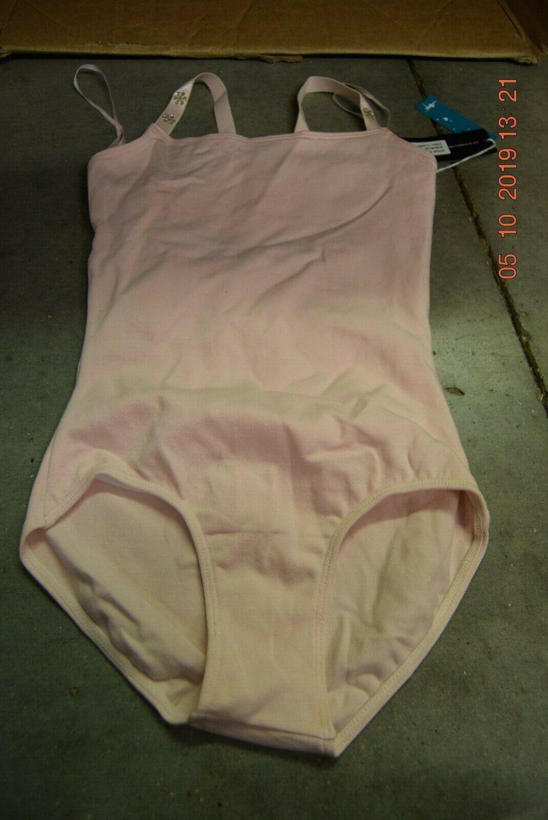 Pink Bloch flower strap detail cotton leotard - Age 6-7 CL3947