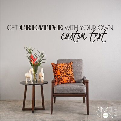 Custom Wall Decal Create Your Own Vinyl Wall Sticker