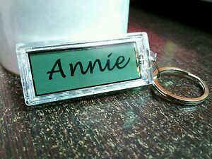 Details about Your Name Personalized key chain Gift Idea Key Ring Solar  Powered Flashing