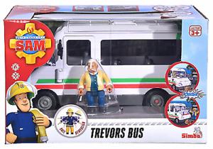 Simba-109251073-Feuerwehrmann-Sam-sam-Trevors-Bus-mit-Figur-Neu