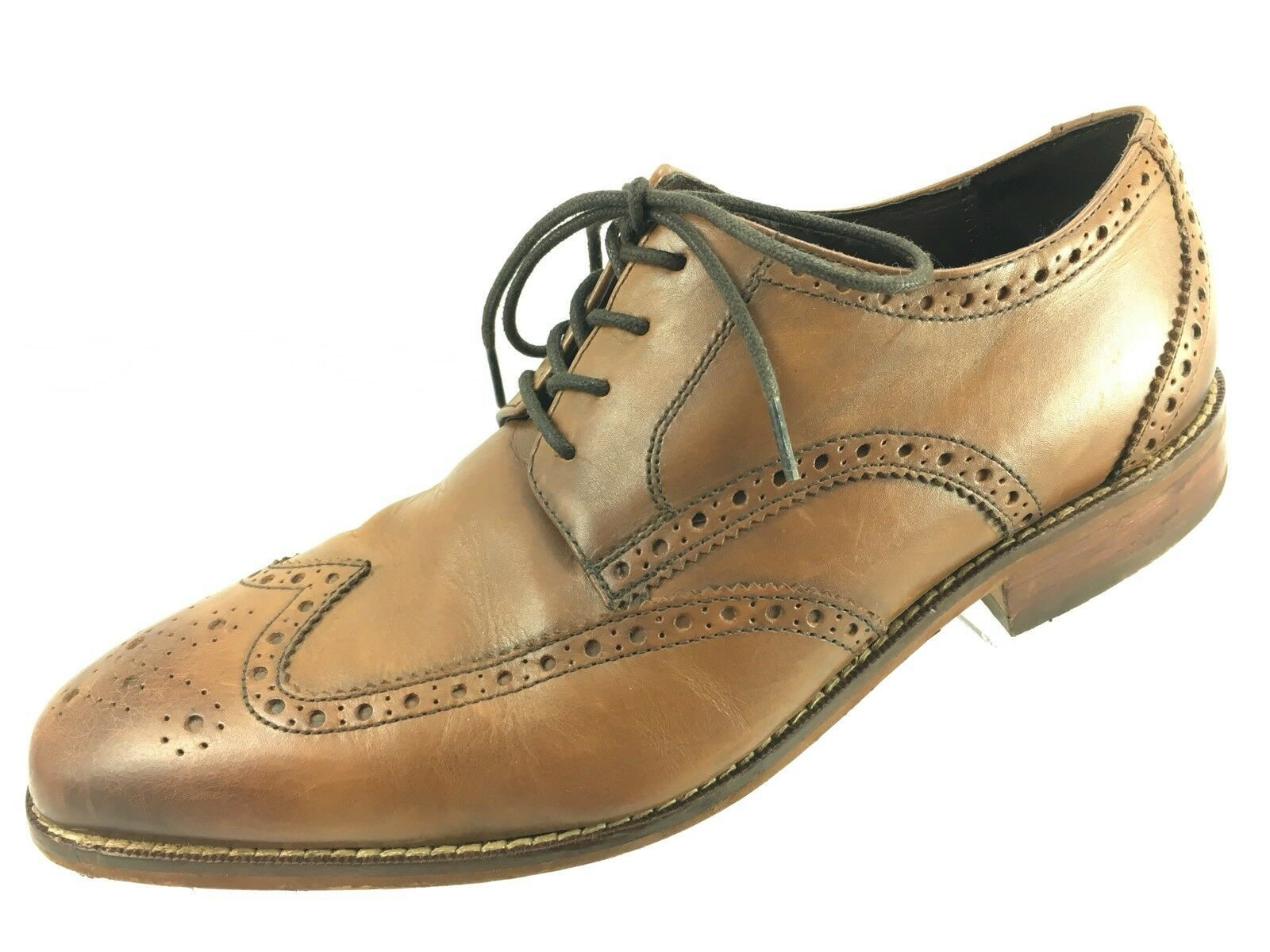 SH10 Florsheim 8D Light braun Leather Full Full Full Brogue Wing Tip Oxford Dress schuhe 215955