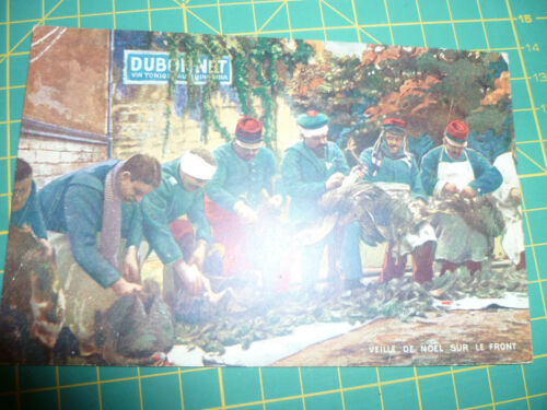 CPA couleur Veille de Noël sur le front Coll Dubonnet