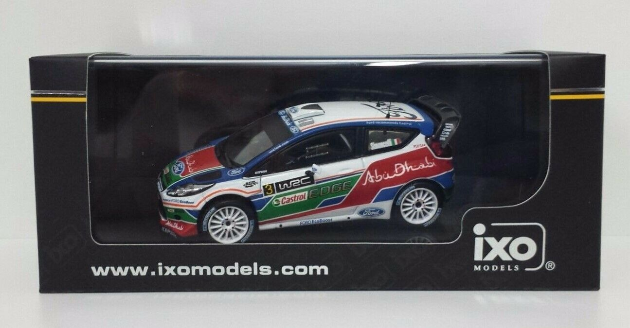 IXO 1 43 MARCO SIMONCELLI FORD FIESTA RALLY WRC TEST KIRKBRIDE AIRPORT 2011 NEW