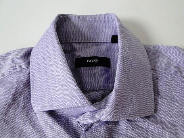 Hugo Hugo Hugo Boss Slim Fit Herren Hemd Langarm Lila Unifarben KW40    | Internationale Wahl  | Modernes Design  | Offizielle  8f2a99