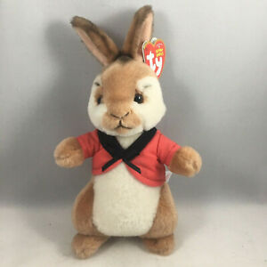 "Plush Animal Toy MWMTs TY Beanie Baby 8/"" JEMIMA Puddle Duck Peter Rabbit Movie"