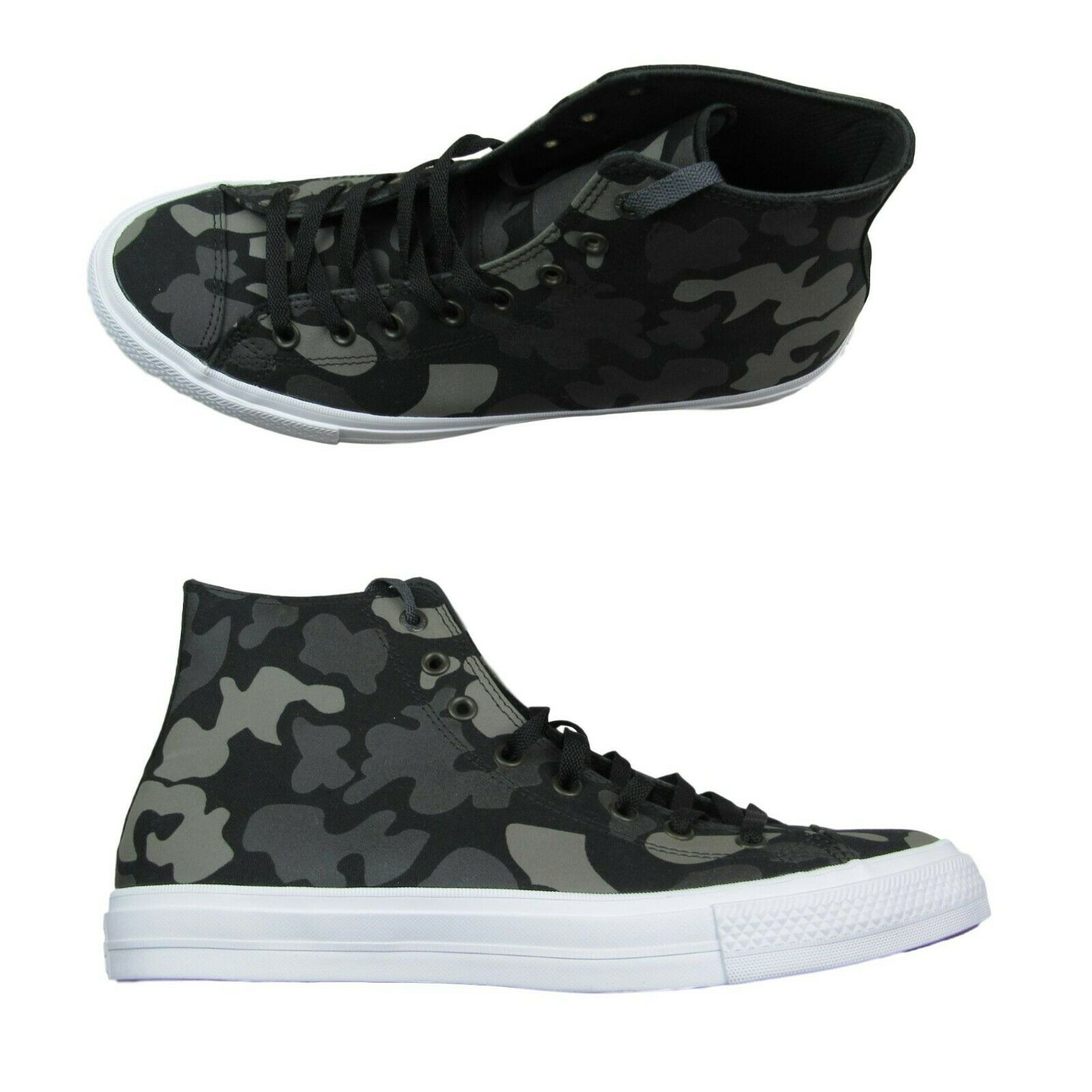 Converse Chuck Taylor All Star II Hi Talla 13 zapatos Charcoal Camo 151157C New