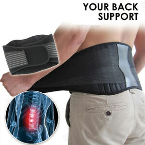 Magnetic-Back-Support-Brace-Belt-Lumbar-Lower-Waist-Double-Adjust-Pain-Relief