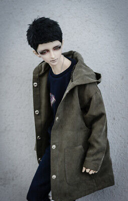 BJD Army Green Coat Top Jacket For Male SD17 70cm Uncle Doll DK DZ AOD
