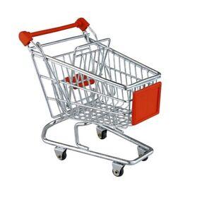 Mini Shopping Trolley Kids Toy Cart Supermarket Utility