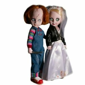 Living-Dead-Dolls-Chucky-And-Tiffany-2-Pack-Tall-Highly-Collectible-Toy-10-034-Tall
