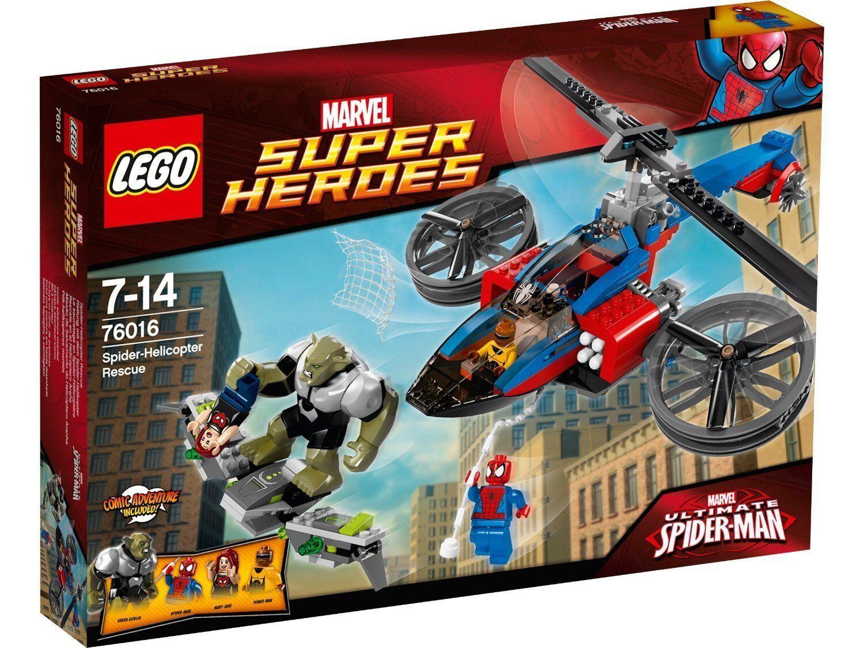 Vous ne pouvez pas pas pas acheter un téléphone portable  et vous n'avez pas de rabais. Lego Super Heroes 76016 Sauvetage en Hélicoptère de L'Homme Araignée | De Faire Le Meilleur Emploi De Matériaux Et Spécial Offre  ddaa38
