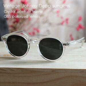73e8501c47c Image is loading Retro-Vintage-polarized-sunglasses-Johnny-Depp-slim- eyeglasses-