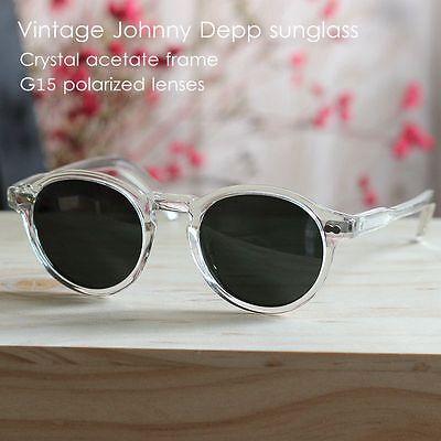 Vintage G15 green polarized sunglasses johnny depp sage acetate glasses UV400