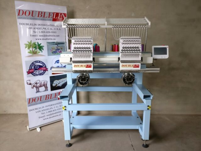 Used Embroidery Machines For Sale >> Commercial Embroidery Machine 2 Heads Compact Style Both Head Full