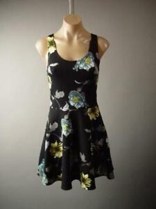 611caf2bbb44 Dark Floral Print Garden Party Black 90s Fit and Flare Skater 277 mv ...