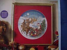 NIGHT BEFORE CHRISTMAS VINTAGE SNAPSHOT OF SANTA & REINDEER CROSS STITCH CHART
