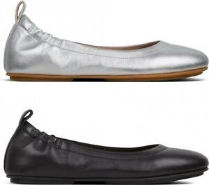 FitFlop-ALLEGRO-Ladies-Womens-Genuine-Leather-Elasticated-Ballerina-Pumps-Shoes