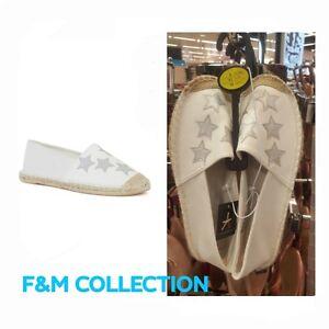 extrêmement unique sélectionner pour dernier réduction jusqu'à 60% Détails sur Primark Femmes Blanc Pompe Ballerine Espadrilles Chaussure-  afficher le titre d'origine