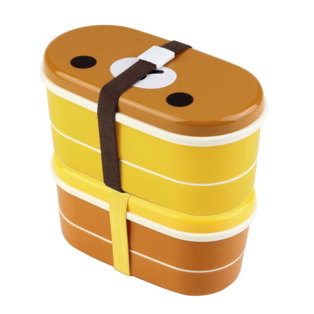Lovely High Heat Resistance Double Layers Chopsticks Plastic Bento Lunch Box FE