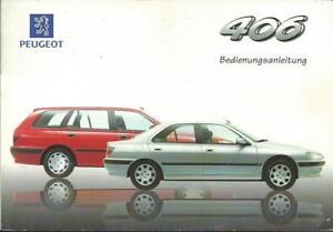 PEUGEOT-406-Betriebsanleitung-1998-Bedienungsanleitung-Handbuch-Bordbuch-BA