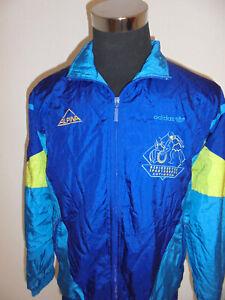 Vintage-80-s-adidas-nylon-chaqueta-sport-chaqueta-brillo-Shiny-rythm-d5-M-L