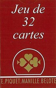Jeu de cartes  La Gauloise Etui Carton   32 Cartes