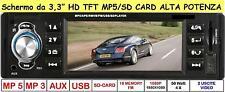 "STEREO AUTO AUTORADIO CON DISPLAY LCD 3.3"" HD MP3/MP4/MP5 USB SD FM/AUX/MMC"