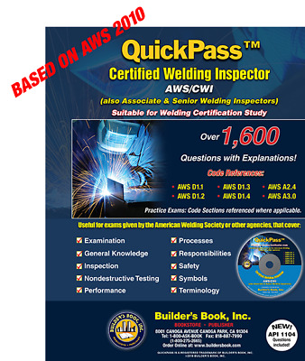 QuickPass Certified Welding Inspector AWS CWI Study Guide With CD ROM 9781622701230 EBay