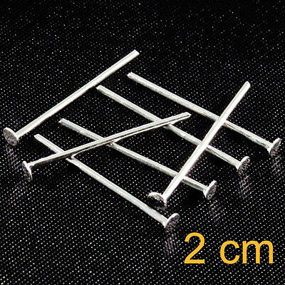 Lot of 50 nails Rods with head flat 2cm Silver for jewelery creation