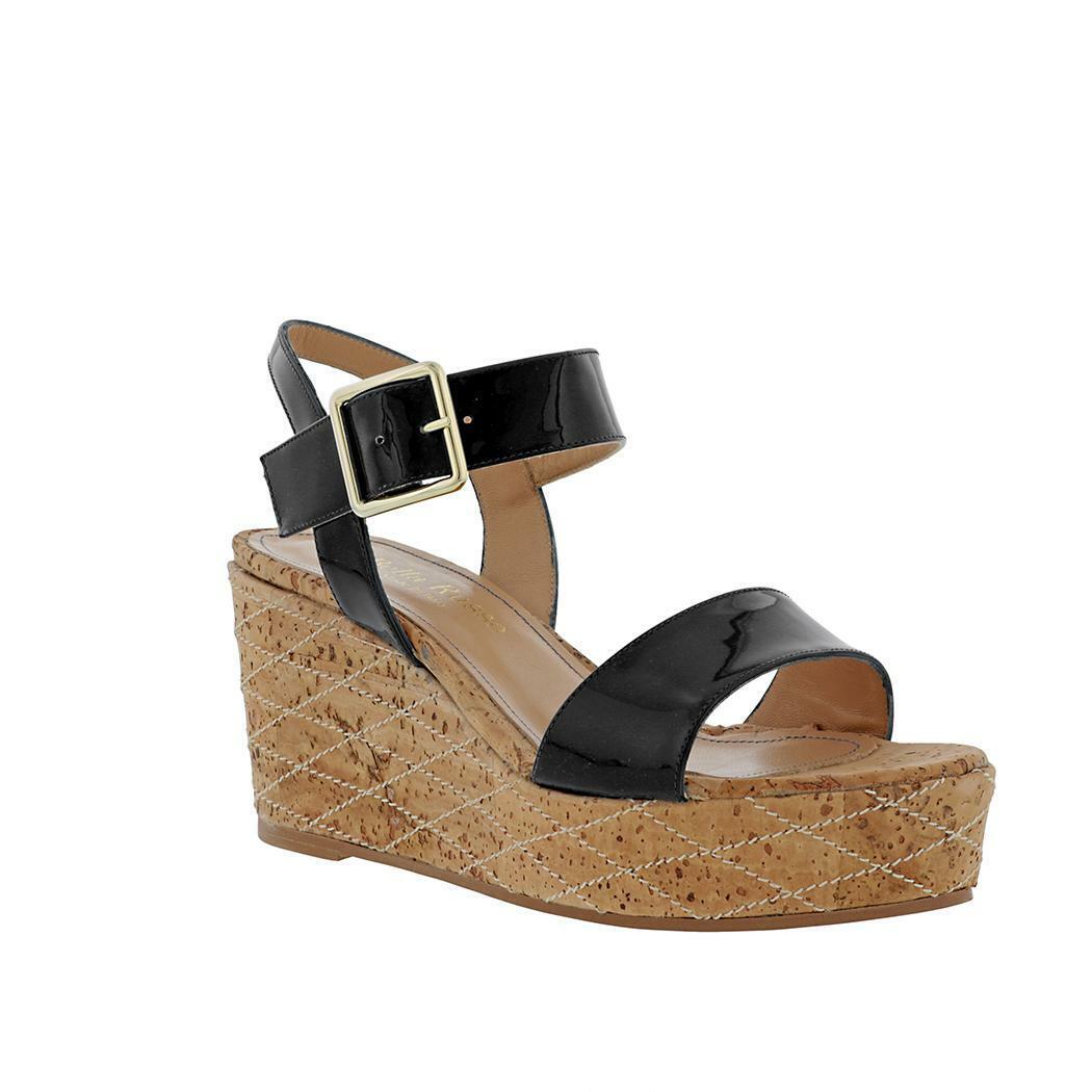 Bella Russo Brevetto Quilted Cork  Wedge Sandal  prezzo basso