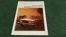 1976 VOLVO 200 SERIES 265 DL ESTATE - UK BROCHURE