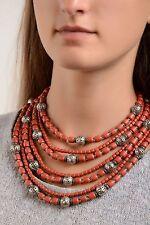 Hecho A Mano Collar Perla Collar étnico Joyas De Cerámica Joyería Fashion Jewelry