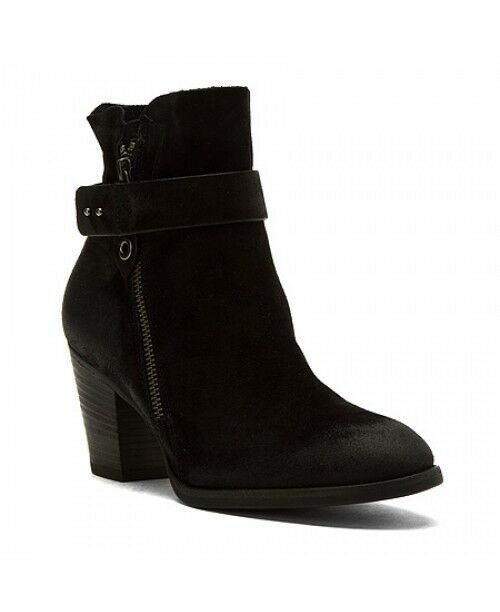 PAUL GREEN DALLAS BLACK SUEDE ZIP ANKLE BOOTS SIZE US 6 399