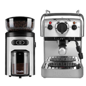 Details About Dualit Coffee Machine And Coffee Grinder Set Dcm2xfreefast Delivery