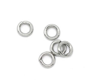 Wholesale Lots Stainless Steel Open Jump Rings 6mm Dia Findings