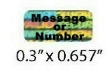 100 CUSTOM PRINT Tiny Hologram Security Warranty VOID SVAG Label Sticker Seals