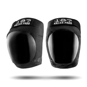 187-Killer-Pro-Knee-Pads-Black-Roller-Derby-Skateboard-skate-inline