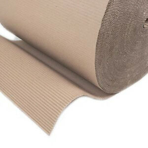 """10 Corrugated Cardboard Paper Rolls 300mm (12"""") x75m Protective Packing Wrapping 3642411235441"""