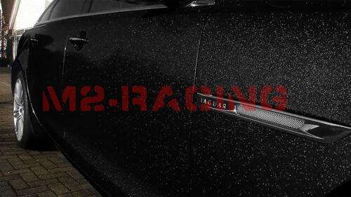 """*60/""""x360/"""" High Gloss Glitter Black Sparkle Car Vinyl Wrap Sticker Decal Sheet"""