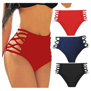 e8652bc5f13 Details about Women High Waist Bikini Tankini Bottom Swim Briefs Swimming  Pants Shorts Bathing