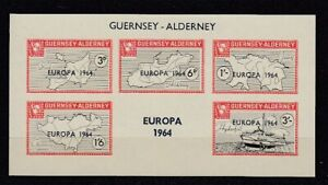 Europe-Cept-1964-Guernsey-Alderney-Block-MNH