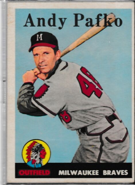 1958 Topps #223 Andy Pafko Braves Vintage