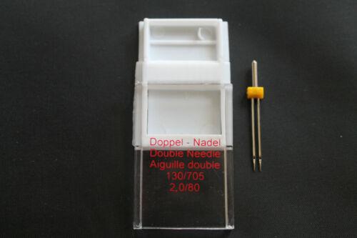 Zwillingsnadel 130//705 H ZWI Doppelnadel Universal Twin Needle 2,0//80 OVP