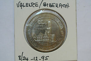 7 Ecu De Valence Biberach 8/24 - 12 - 1995 Seulement 2500 Exemplaires ! Soyez Amical Lors De L'Utilisation