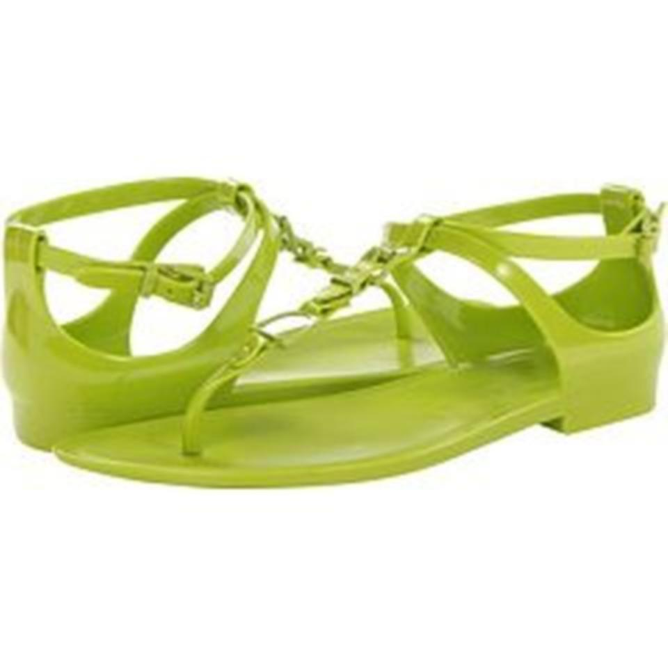 Ralph Lauren Collection Karly Jelly Gladiator Mojito Lime Sandal Sz 10  195.00