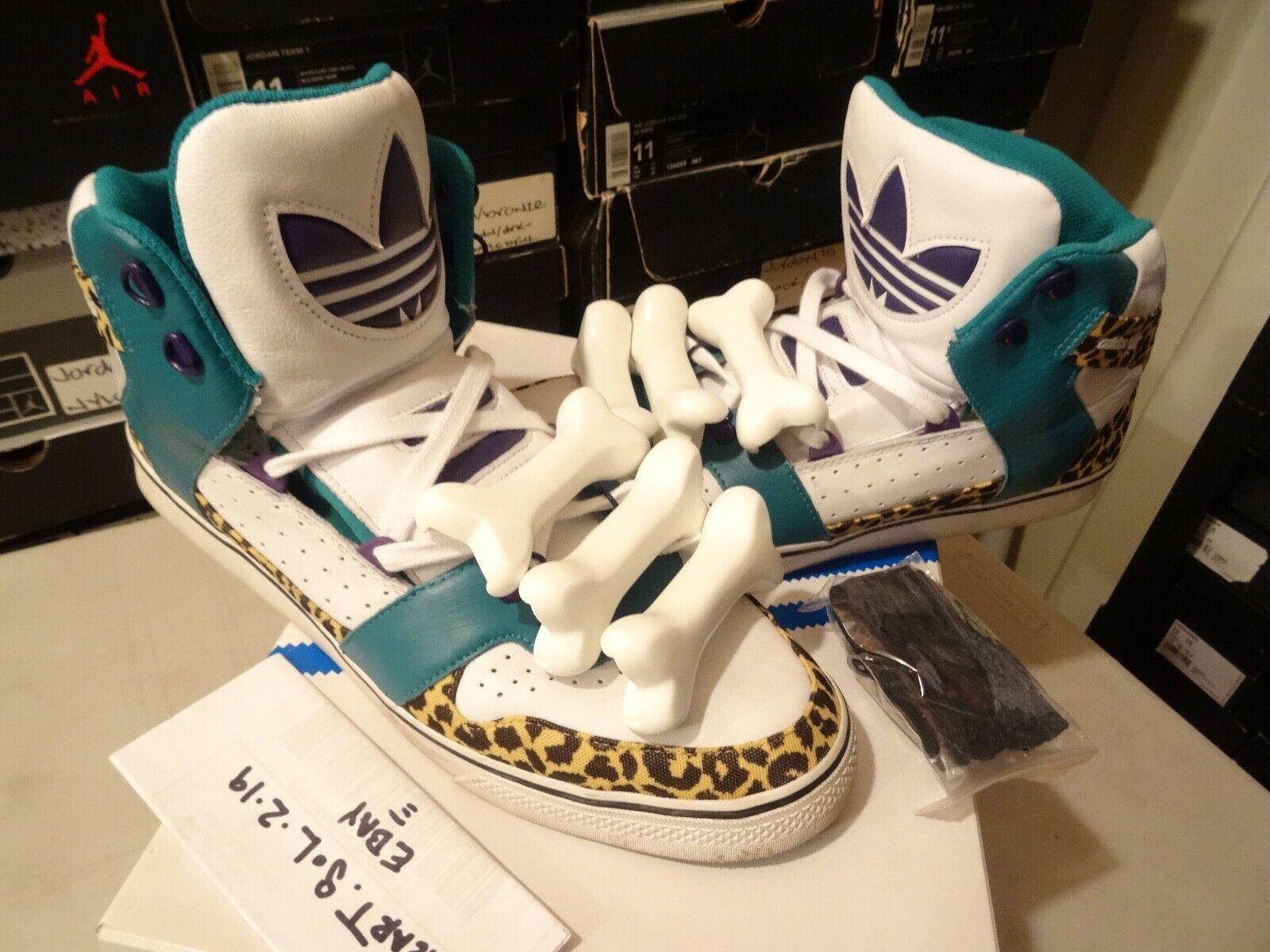 Adidas Originals Jeremy Scott JS JS JS Bones g50690 Leopard NYC SZ 13 + ASAP ROCKY 10231b