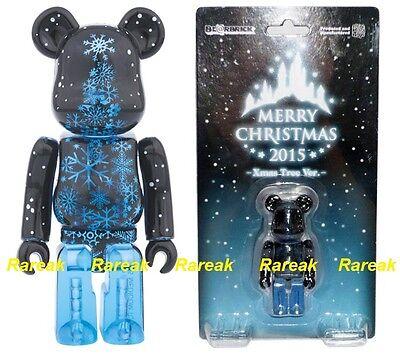 Medicom 2015 Be@rbrick Merry Christmas 100/% Santa Bear /& Xmas Tree Bearbrick 2pc