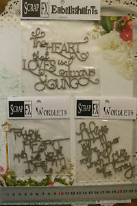 Chipboard-Phrases-FOLLOW-your-HEART-LIFE-DREAM-etc-Scrap-FX-3-Type-Choice-W2